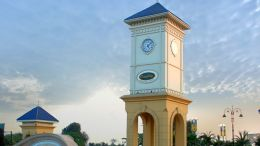 Actual view : DreamCity Clock Tower At Entrance
