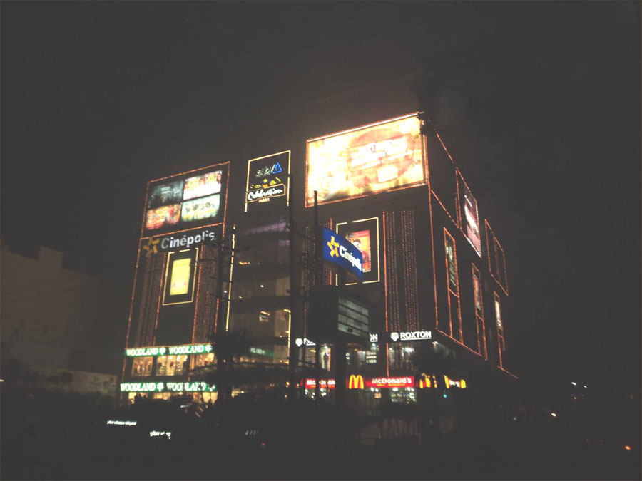 Night View of The Celebration Mall